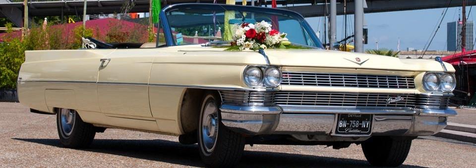 Cadillac Deville pour un mariage à Paris