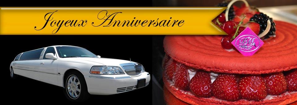 Location limousine anniversaire paris