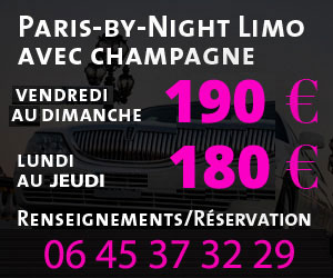 Location limousine rose Paris By Night avec Champagne